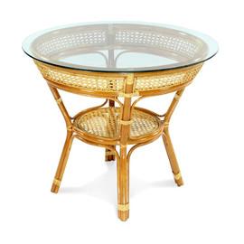 Стол обеденный из ротанга JAVA, 11-23А К Коньячный Ecodesign