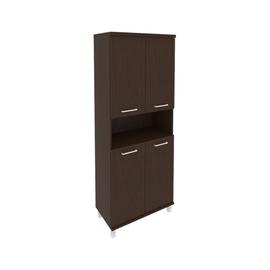 Шкаф для документов высокий широкий (4 низкие двери ЛДСП) FIRST KST-1.5 800*430*2060 Венге