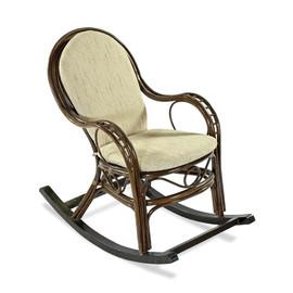 Кресло-качалка с подножкой MARISA-R 05-12 Б (подушка рогожка) EcoDesign