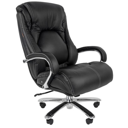 Кресло руководителя Chairman 402 Черная кожа.