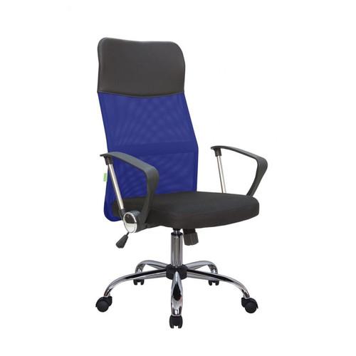 Офисное кресло Riva Chair 8074 (подголовник - экокожа) синяя сетка