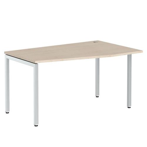 Стол письменный эргономичный на металлокаркасе в офис XSCET 149 Бук тиара Xten-S 1400х900х750 Правый угол