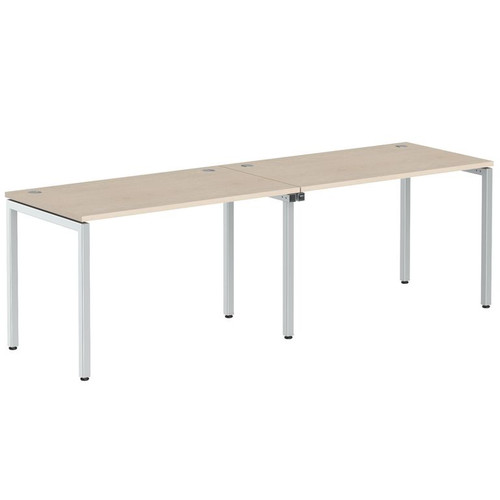 Стол письменный на 2 рабочих места в офис XWST 2470 Бук тиара Xten-S 2400х700х750