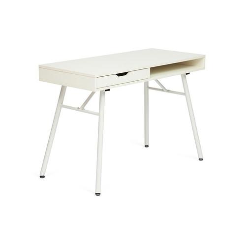 Стол для ноутбука WRX-12 Белый ПВХ + Белые ножки TetChair
