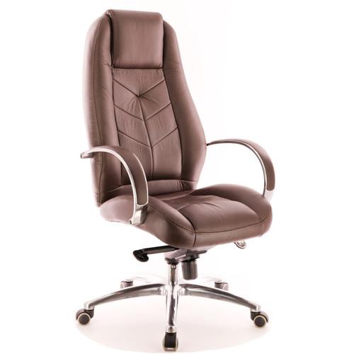 Кресло для руководителя в офис Everprof Drift Full AL M экокожа коричневый