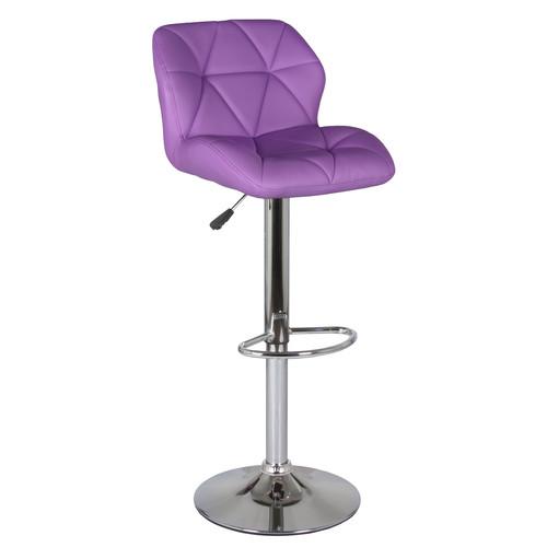 Барный стул Алмаз WX-2582  Экокожа, Фиолетовый Ecoline