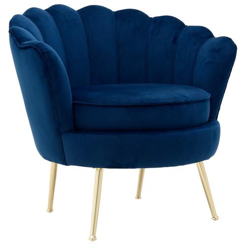Кресло 7850045.0017 4Rooms Синяя ткань