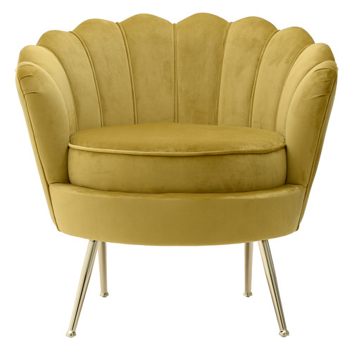Кресло 7850045.0019 4Rooms Желтая ткань