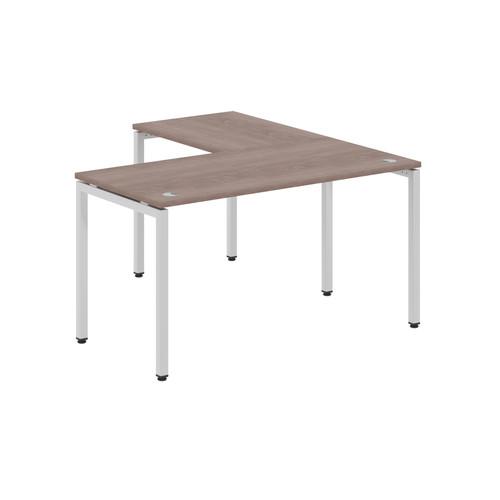 Стол письменный угловой на металлокаркасе в офис XSCT 1415 Дуб Сонома Xten-S 1400х1500х750