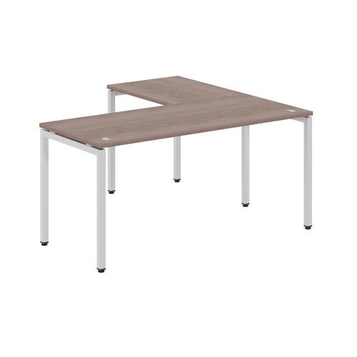 Стол письменный угловой на металлокаркасе в офис XSCT 1615 Дуб Сонома Xten-S 1600х1500х750