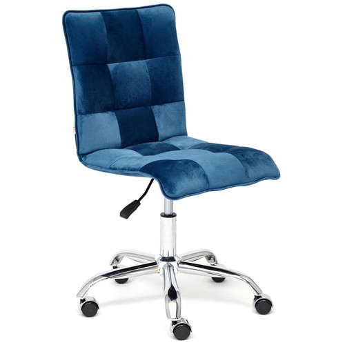 Кресло офисное «Zero» бархат, синий  TetChair