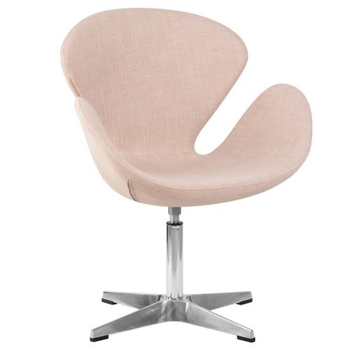 Дизайнерское кресло 69А Swan бежевое Dobrin