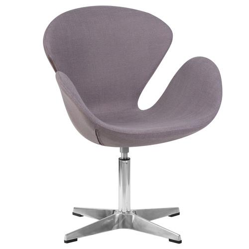 Дизайнерское кресло 69А Swan серое DobrinДизайнерское кресло 69А Swan серое Dobrin