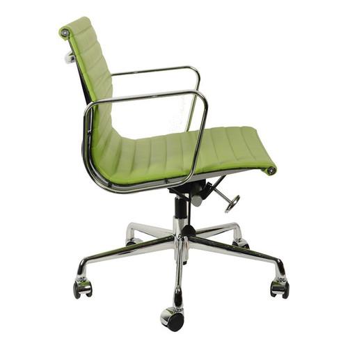 Кресло компьютерное Eames Style Ribbed Office Chair EA 117 салатовая кожа