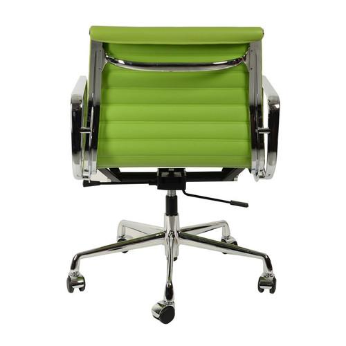 Кресло компьютерное Eames Style Ribbed Office Chair EA 117 салатовая кожаКресло компьютерное Eames Style Ribbed Office Chair EA 117 салатовая кожа