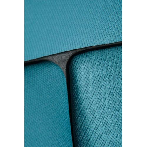 Кресло для руководителя в офис NORDEN IQ черный пластик/голубая ткань