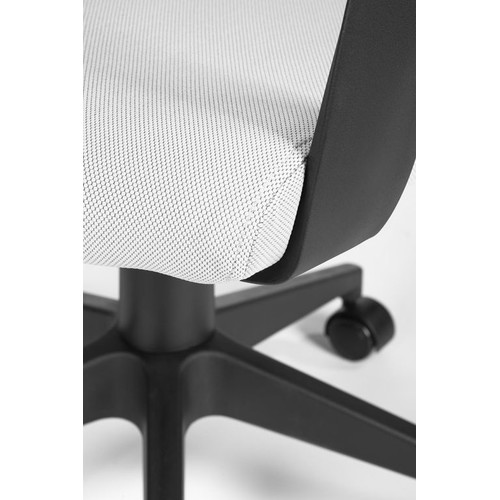 Кресло для руководителя в офис NORDEN IQ черный пластик/серая ткань