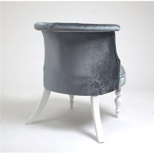 Кресло Бархат (эмаль белая / 25 - грязно-голубой) Red Black