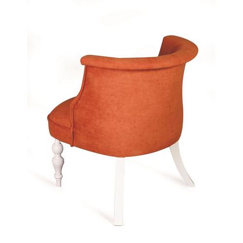 Кресло Бархат (эмаль белая / G08 - морковный) Red Black