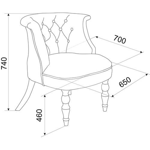 Кресло Бархат (эмаль белая / 36 - голубовато-серый) Red Black