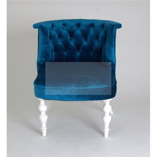 Кресло Бархат (эмаль белая / 34 - королевский синий) Red Black